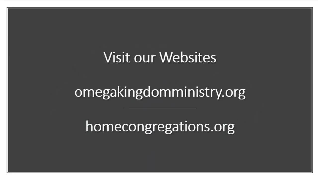 Omega Kingdom Ministry Home Congregation Training