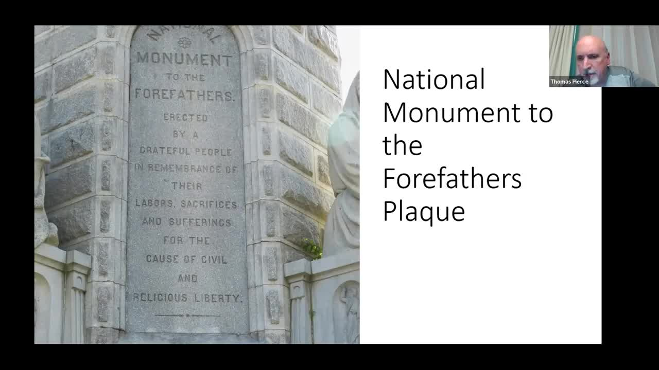 Basileia Plymouth Monument Discussion with Ed & Mary Cushing and Colonel Kevin Bushey